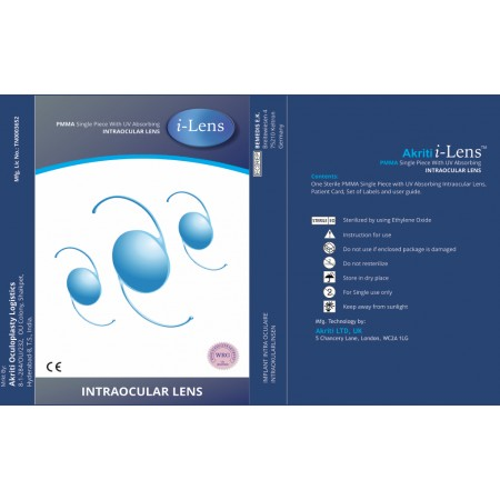 i-Lens PMMA Single Posterior Chamber 360* Square Edge  Intraocular Lens