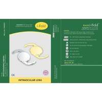 i-Fold Aspheric Surface with 360* Square Edge Optics Hydrophillic Yellow Acrylic Foldable IOL